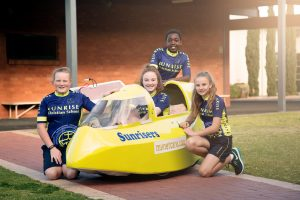 Sunrise Whyalla Pedal Prix team
